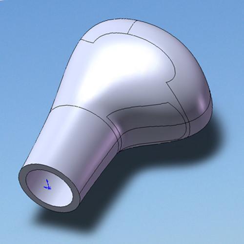 Design výrobků - rukojet model